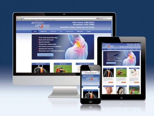 Action Physiotherapy Web Site Design