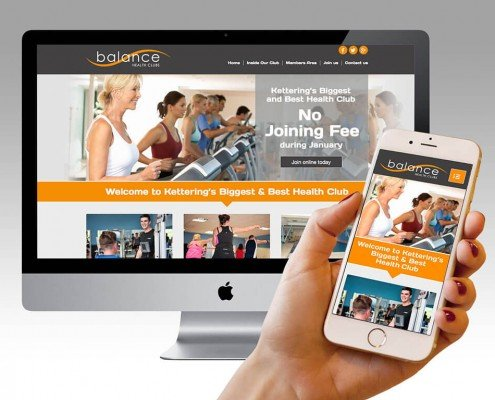 Responsive website design for Balance Health Club