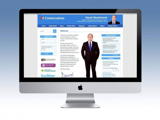 Website Design Northampton Conservative MP
