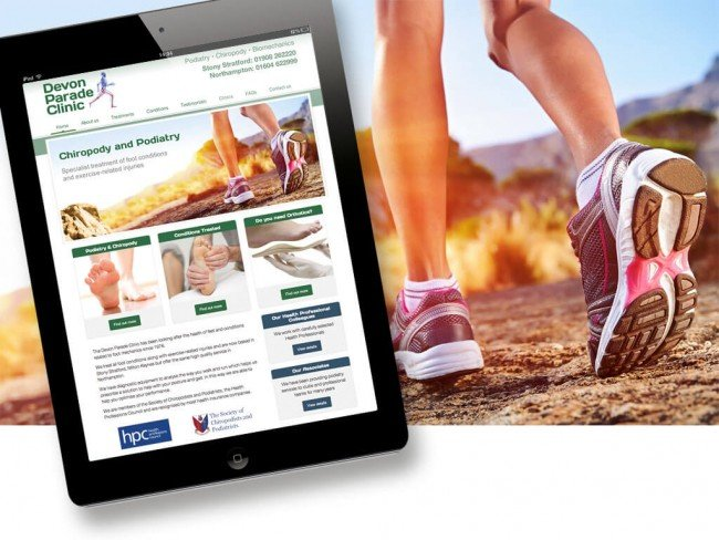 Website design for Podiatrists