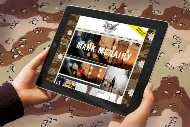 Website design for footwear brand Mark MacNairy