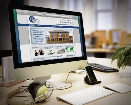 Website design for Northampton Science Park