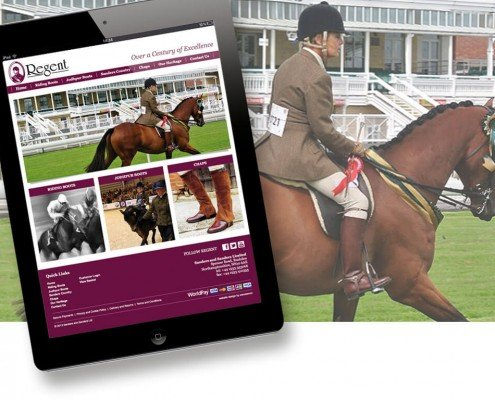 Website design for Riding boots