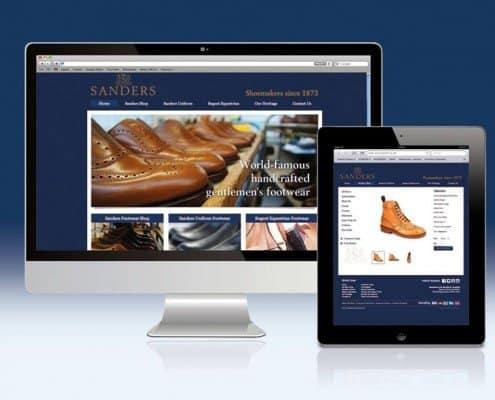 Ecommerce website for Sanders & Sanders