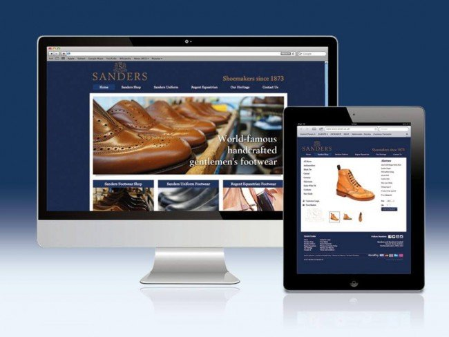 Ecommerce website for Sanders & Sanders