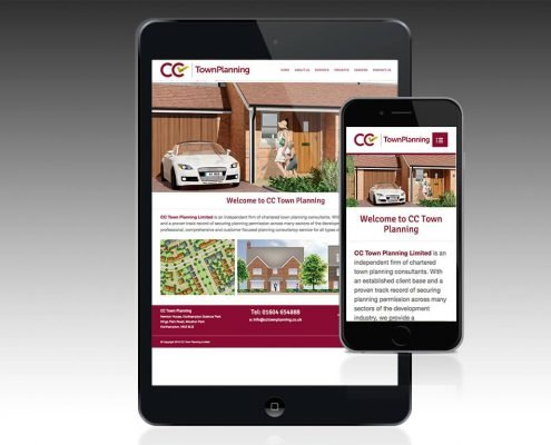 Town planning website design