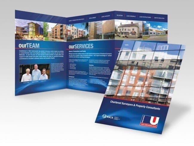 Underwoods brochure design