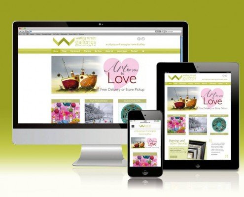 Website Design for Watling Street Galleries