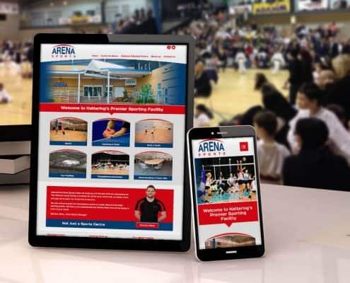 Arena Sports Website Design