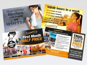 Flyers for Balance Health Club