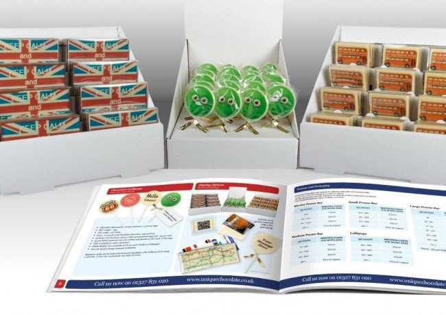 Brochure design for Chocolate company