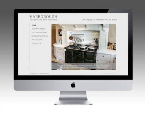 Website Design for Harborough Kitchens