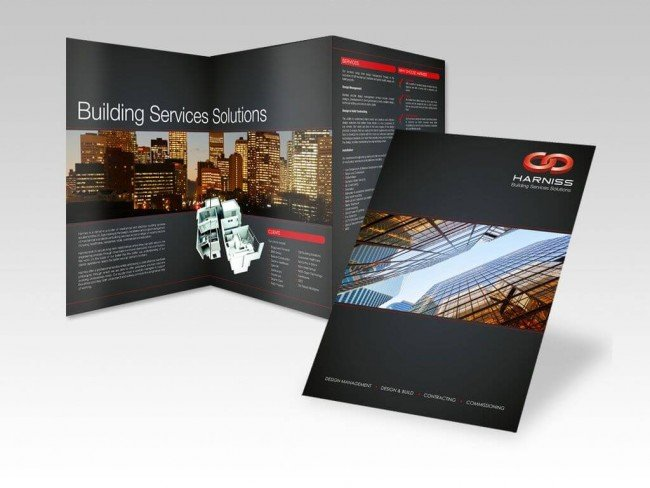 Brochure design for Harniss