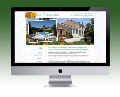 Website Design for Les Capucines