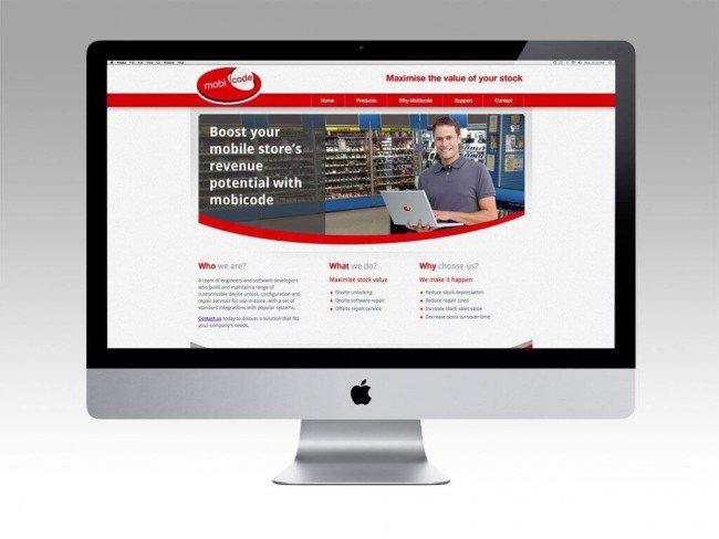 Mobicode Website design