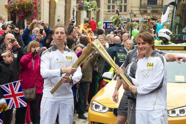 Olympic torch in Northampton