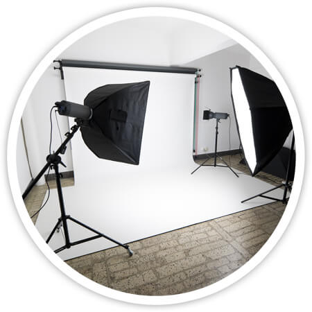 Commercial photography studio