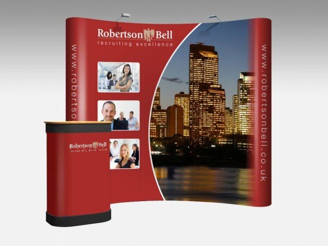 Pop up exhibition stand for Robertson Bell