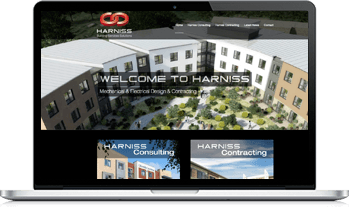 Responsive website design for harniss