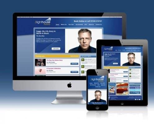 Responsive website design Lighthouse theatre