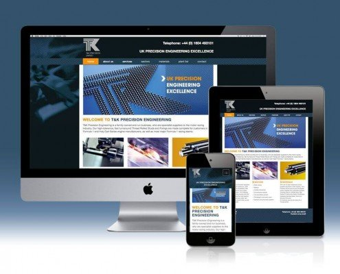 Website Design for T&K Precision